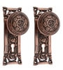 Adonai Hardware Abidah Brass 2.4 x 2.3 Inch Door Knob with Plate