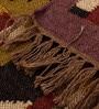 Carpet Overseas Multicolour Jute 37 x 24 Inch Flat Weave Kilim Design Dhurrie