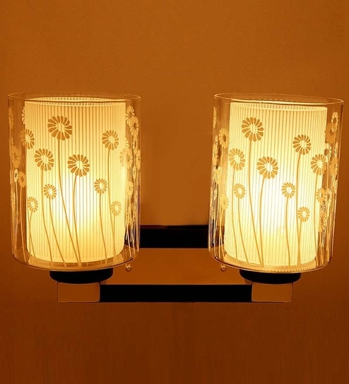 Aesthetics contemporary double glass designer wall light with two aesthetics contemporary double glass designer wall light with two lamp shades aloadofball Choice Image
