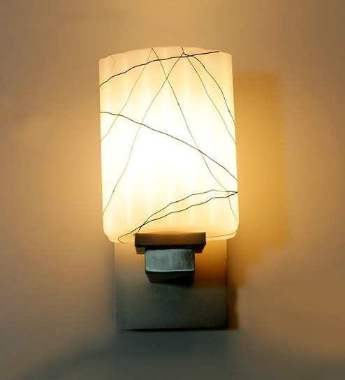 Aesthetics Fancy Chrome Finish Designer Glass Wall Light by ...