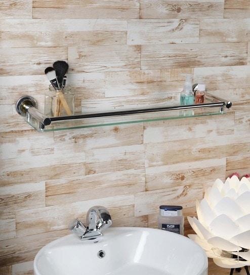 Aesthetic Home Solutions Chrome Steel Gl 23 5 X 4 Inch Bathroom Shelf
