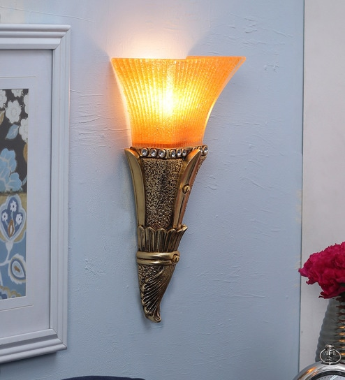 Golden Glass Wall Light by Aesthetic Home Solutions