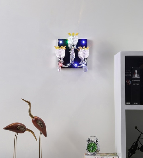 Multicolour Glass Upward Wall Mounted Lamp by Aesthetic Home Solutions