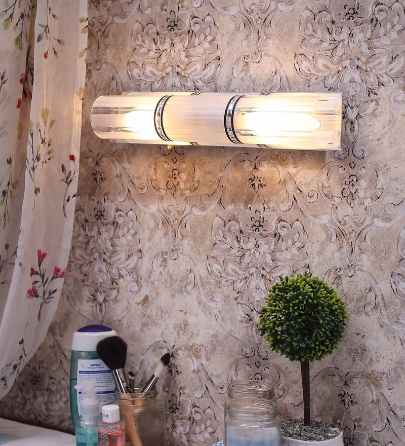 White Gl Bathroom Light By Aesthetic Home Solutions