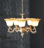 Aesthetics Home Solution Brown and White Glass Chandelier