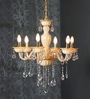 Brown Glass Chandelier by Aesthetic Home Solutions