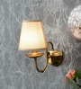 Aesthetic Home Solution Cream Paper Cloth  Wall Light