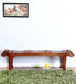 Ahilya Handcrafted Bench in Honey Oak Finish
