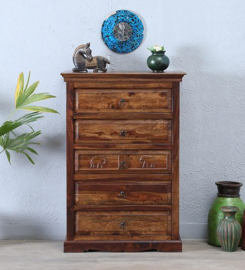 55790a70aab Buy Airavana Solid Wood Chest of Drawer in Provincial Teak Finish by  Mudramark Online - Indian Ethnic Chest of Drawers - Chest of Drawers -  Furniture ...