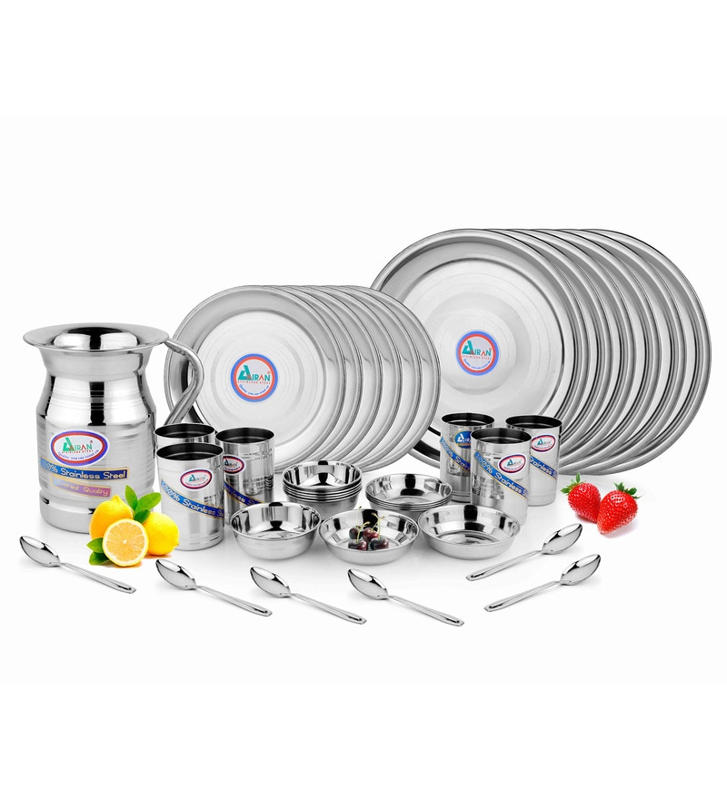 Khana Khazana Stainless Steel 37-Piece Dinner Set by Airan