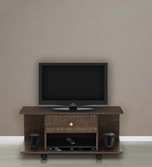 Buy Akira Entertainment Unit with One Drawer in Wenge Finish by ...