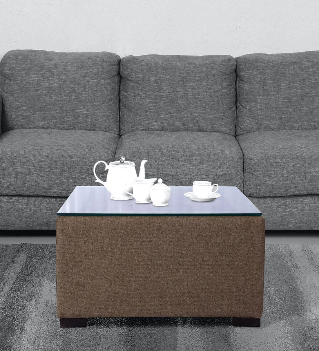 Picture of: Buy Alvin Upholstered Center Table In Light Brown Colour By Muebles Casa Online Square Coffee Tables Tables Furniture Pepperfry Product