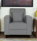 Alba One Seater Sofa in Ash Grey Colour