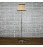 Brown Cotton Floor Lamp