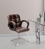 Albion Ergonomic Medium Back Chair in Brown Color By VJ Interior