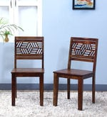 Alder Dining Chair (Set of Two) in Provincial Teak Finish