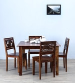 Alder Four Seater Dining Set in Provincial Teak Finish