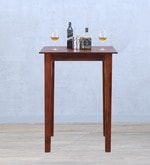 Alder Square High Dining Table in Honey Oak Finish