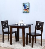 Alder Two Seater Dining Set in Warm Chestnut Finish