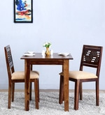 Alder Two Seater Cushioned Dining Set  in Provincial Teak Finish