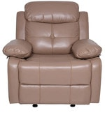 Alex One Seater Recliner Sofa (with Glider) in Camel Colour