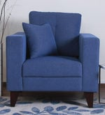 Alfredo One Seater Sofa in Denim Blue Colour