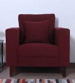 Alfredo One Seater Sofa in Garnet Red Colour