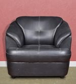 Alto One Seater Leatherette Sofa in Black Colour