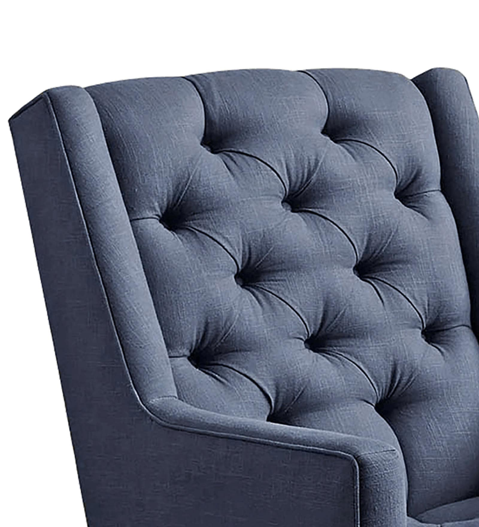 Alicia Modern Tufted Chair In Blue Colour By Dreamzz