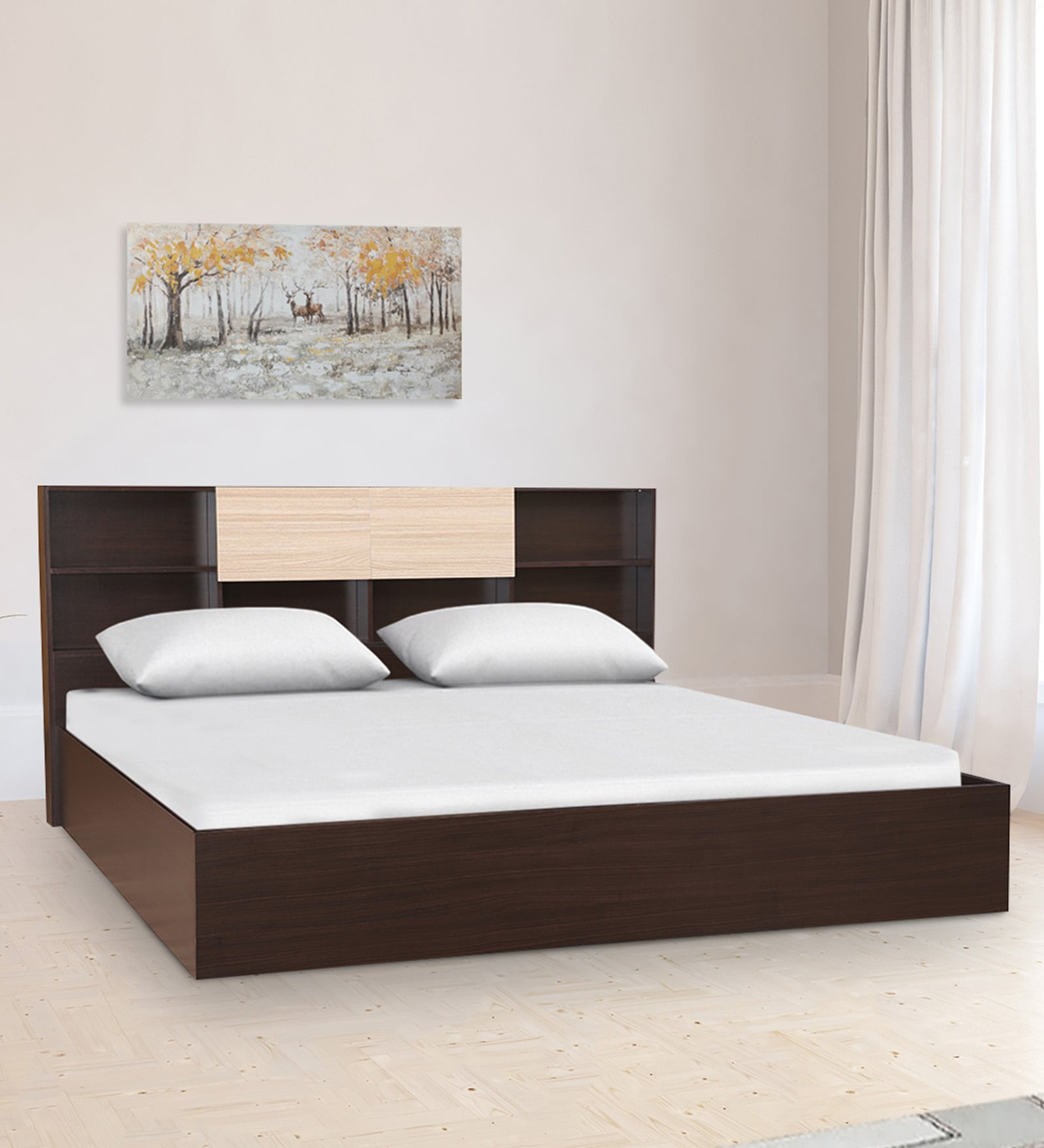 Alysson King Size Bed With Box Storage