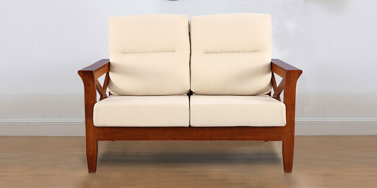 Aldrich Solid Wood Two Seater Sofa With