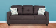 Albans Three Seater Sofa in Grey Colour