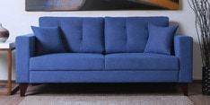 Alfredo Three Seater Sofa in Denim Blue Colour