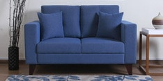 Alfredo Two Seater Sofa in Denim Blue Colour
