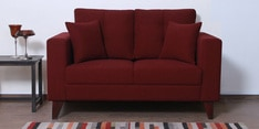 Alfredo Two Seater Sofa in Garnet Red Colour