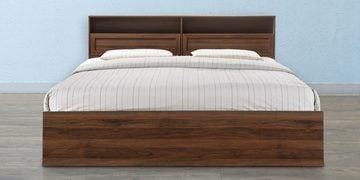 Alyssa Queen Size Bed With Box Storage In Wenge Finish