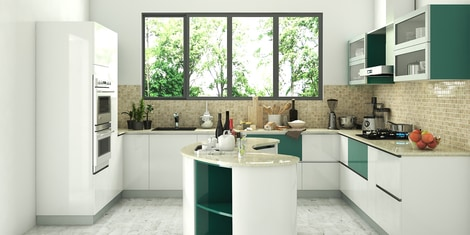 Island Modular Kitchen Buy Island Modular Kitchen Online In India At Best Prices Modular Kitchens Pepperfry
