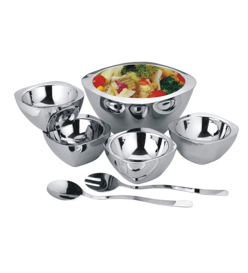 Buy AlaMode Design Home Stainless Steel 7 Piece Square Serving Set Online