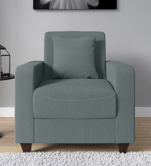 wholesale dealer 1b4d3 10570 Alba 1 Seater Sofa in Ash Grey Colour by Woodsworth