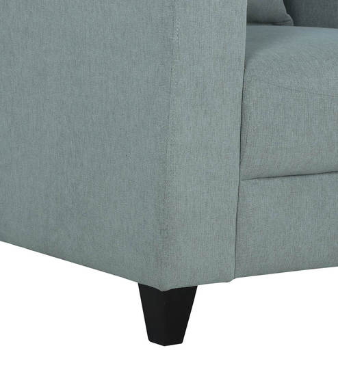 Alba One Seater Sofa in Ash Grey Colour by CasaCraft
