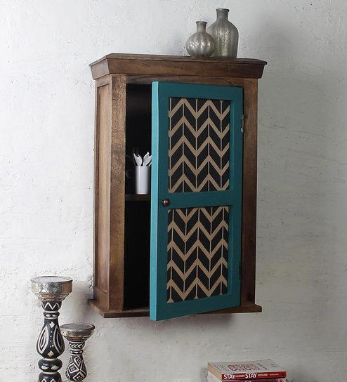 0f5893068 Buy Alba Solid Wood Hand Painted Wall Shelf in Vintage Green Finish by Fabuliv  Online - Eclectic Wall Shelves - Eclectic Wall Shelves - Wall Art -  Pepperfry ...