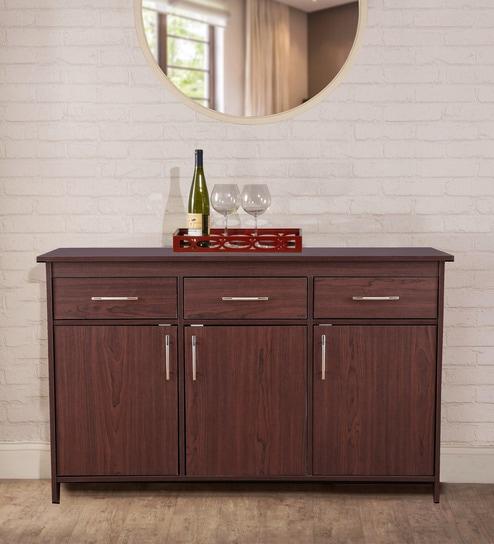 Groovy Albert Multipurpose Cabinet In Cherry Brown Finish By Hometown Download Free Architecture Designs Lukepmadebymaigaardcom