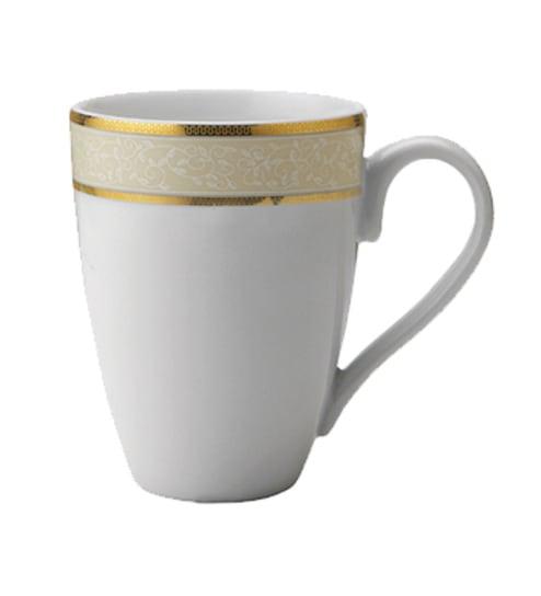 Alda Line Gold Porcelain 300 Ml Mugs Set Of 2