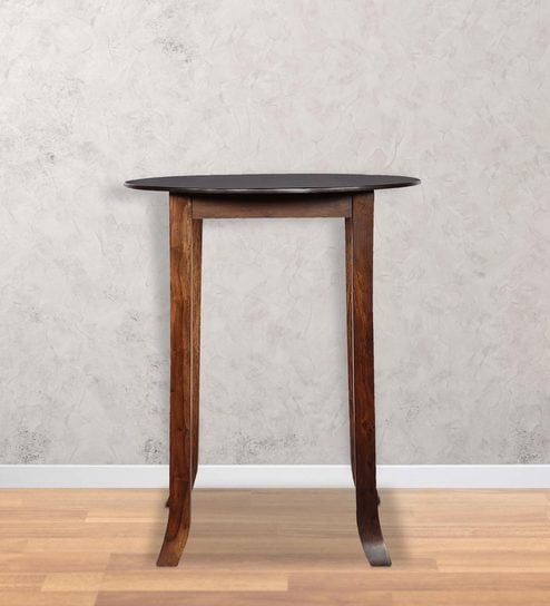 High Round Dining Table: Buy Alder Round High Dining Table In Provincial Teak