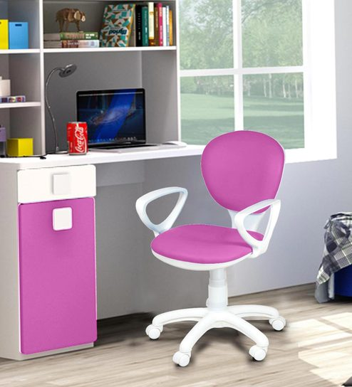 Candy Study Chair In Pink Colour By Alex Daisy