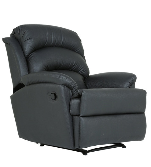 Alexandria One Seater Recliner in Black Colour by Furnitech  sc 1 st  Pepperfry : one seater recliner - islam-shia.org