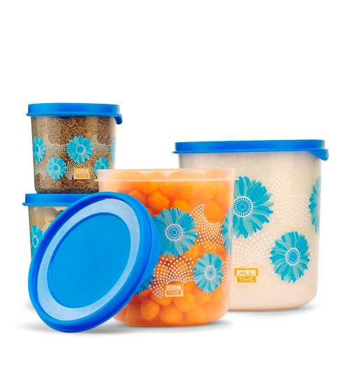 a8c6b19876a All Time Dcor Blue Storage Container - Set of 4 by All Time Online ...