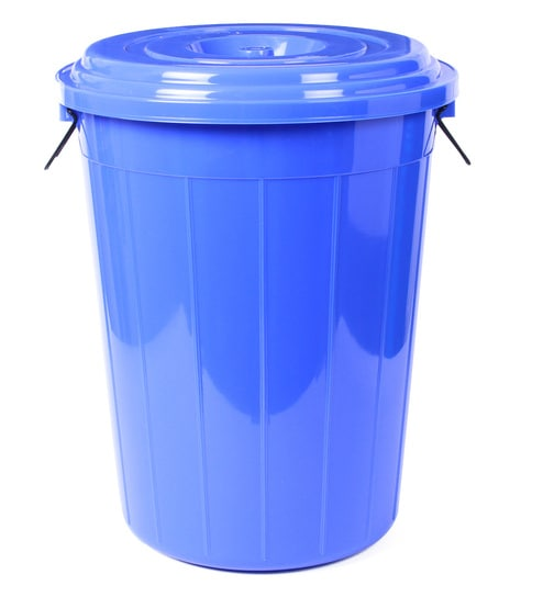 All Time Plastic 80 L Blue Storage Drum With Lid
