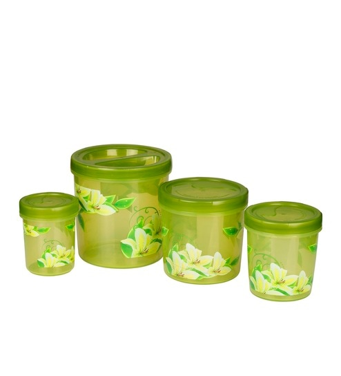 buy all time zen decor green plastic containers set of 4 online rh pepperfry com