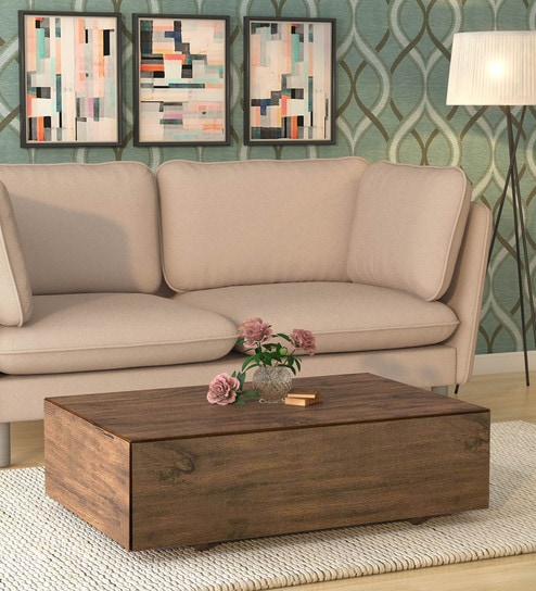 Alma Coffee Table in Matte Brown Finish by CasaCraft